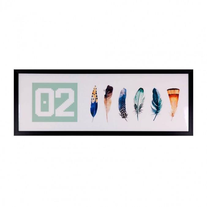 Cuadro OZ 80x30cm con marco y cristal