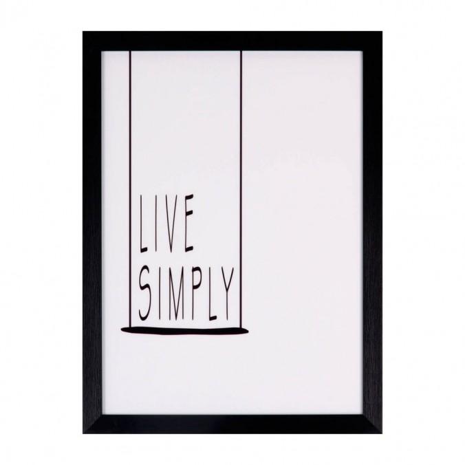 Cuadro LIVE SIMPLY 30x40cm con marco y cristal
