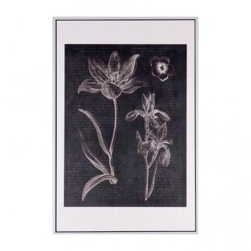 Cuadro FLOWERS 40x60cm con marco