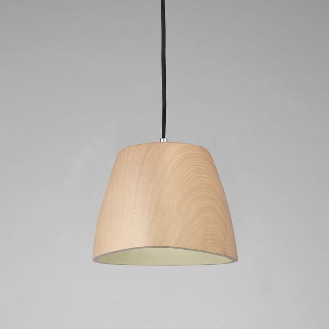 Lámpara colgante TRIANGLE 22cm polimero madera
