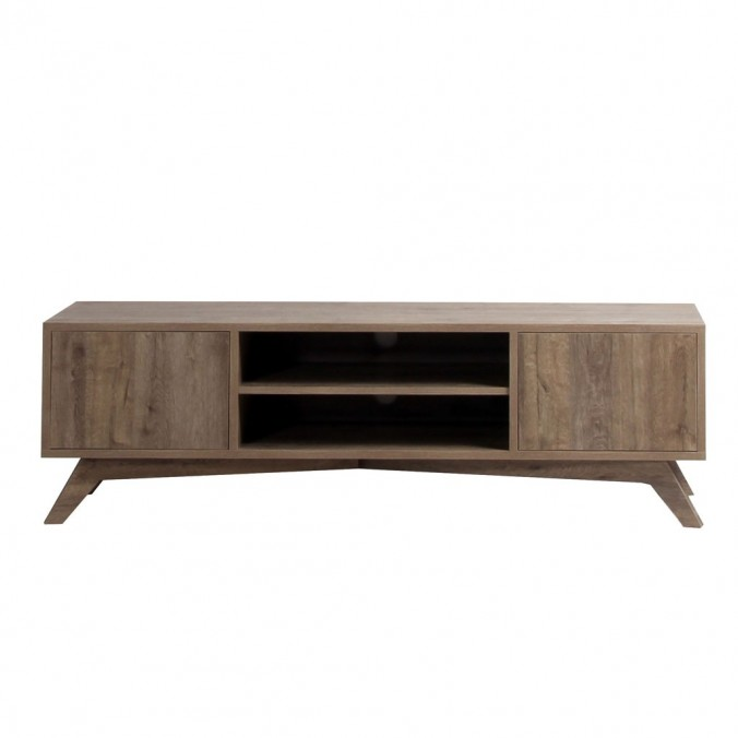 mueble tv estilo escandinavo grande roble