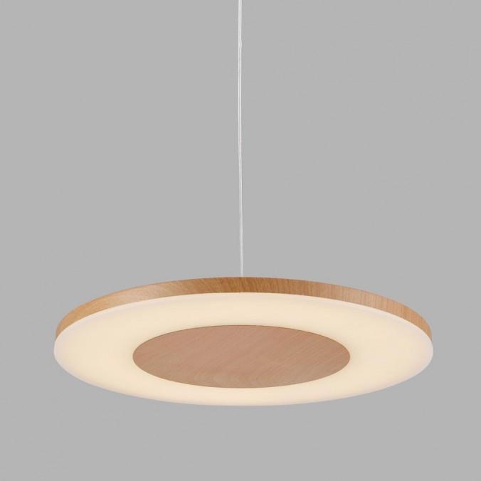 DISCOBOLO metal Lámpara colgante Erizho LED 48cm madera hdBsxQrtC