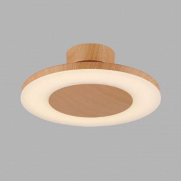 Plafón de techo LED DISCOBOLO 36cm metal madera