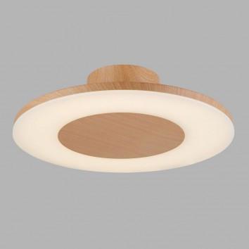 Plafón de techo LED DISCOBOLO 48cm metal madera