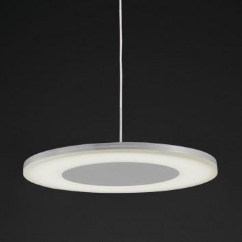 Lámpara colgante LED DISCOBOLO 48cm metal satinado
