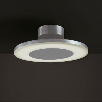 Plafón de techo LED DISCOBOLO 36cm metal satinado