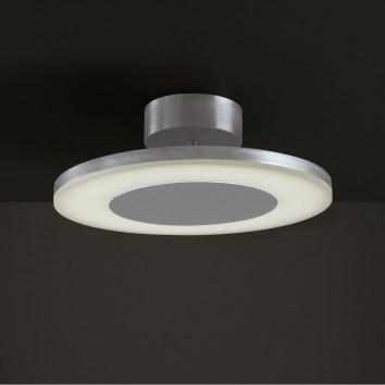Plafón de techo LED DISCOBOLO 36cm metal satinado