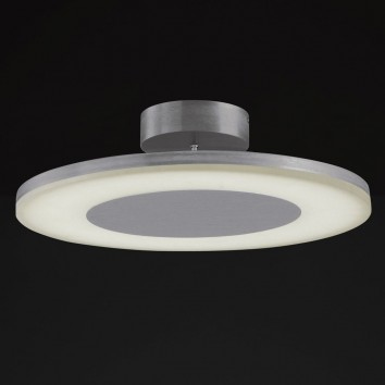 Plafón de techo LED DISCOBOLO 48cm metal satinado