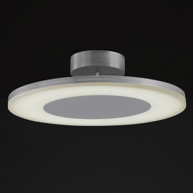 Plafón de techo LED DISCOBOLO 48cm metal satinado