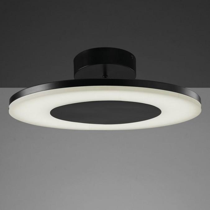 Plafón de techo LED DISCOBOLO 48cm metal negro
