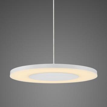 Lámpara colgante LED DISCOBOLO 48cm metal blanco