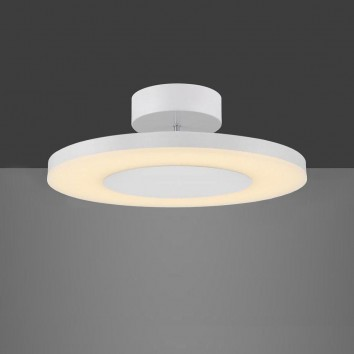 Plafón de techo LED DISCOBOLO 36cm metal blanco