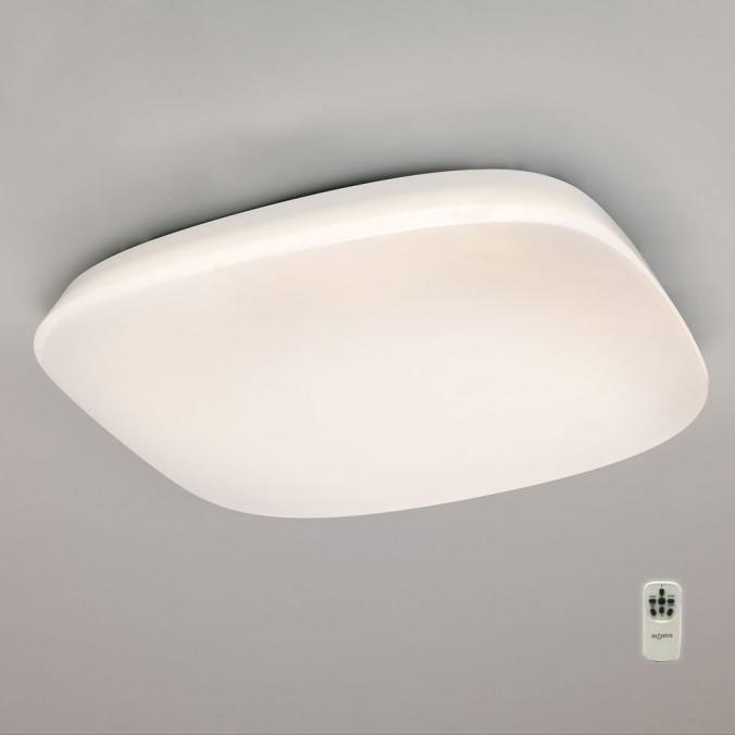 Plafón techo LED QUATRO regulable con mando