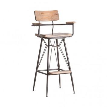 Silla alta ALANO estilo industrial - 53x50x111h