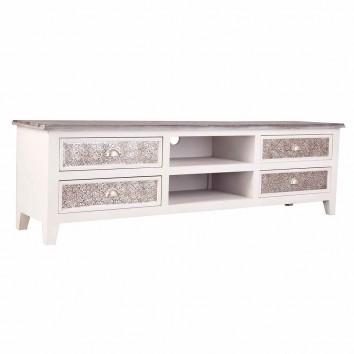 Mueble TV 160cm  con frente de metal repujado