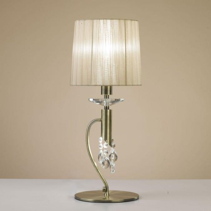 Lámpara de mesa clásica TIFFANY cuero