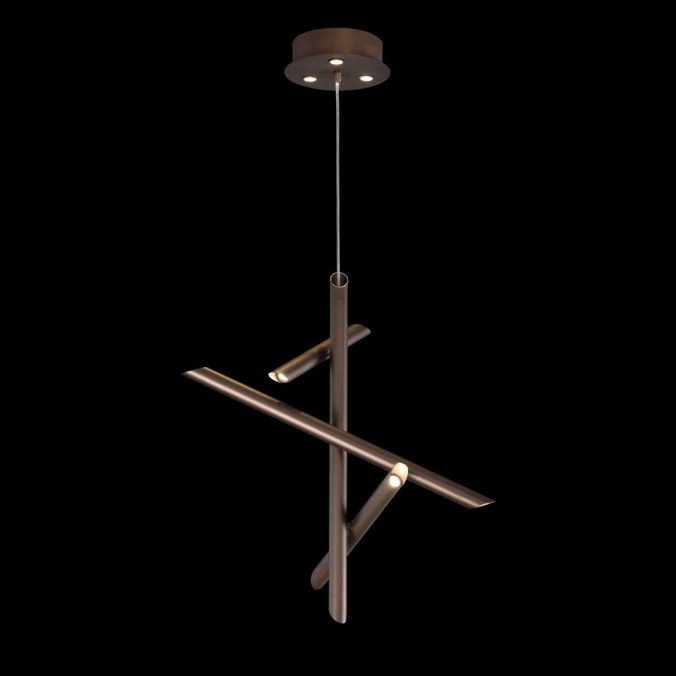 Lámpara colgante de techo LED TAKE bronze