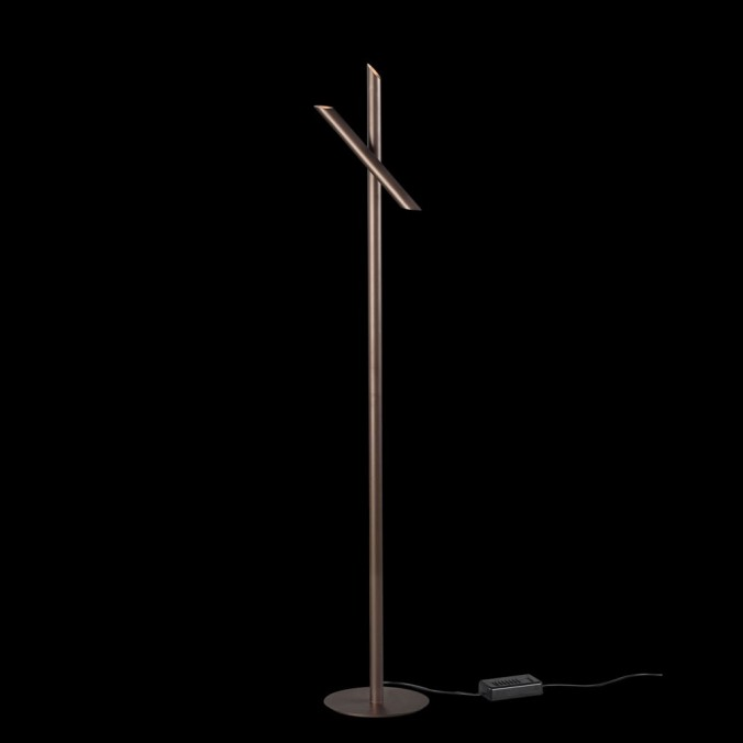 Lámpara de pie LED TAKE bronze