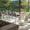 Sillón de exterior WHITE aluminio y textilene
