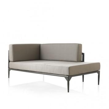 Chaise longue exterior DELTA aluminio y tejido Hidrófugo Dralon