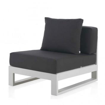 Módulo sofá exterior BIANCO tejido Hidrófugo Dralon
