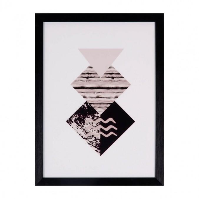 Cuadro DIAMOND 30x40cm con marco y cristal