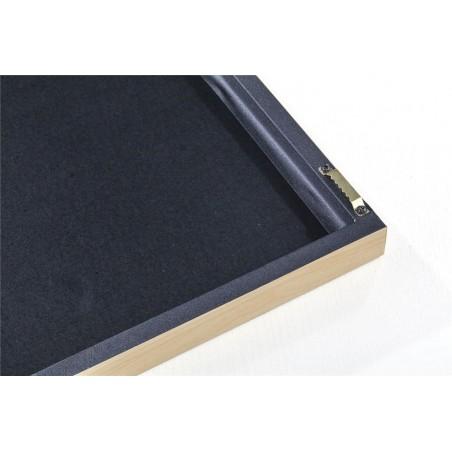 Cuadro CK negro 80x30cm con marco y cristal - Erizho