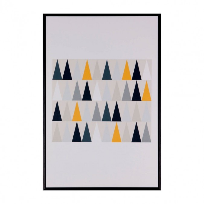 Cuadro TRIANGULOS 40x60cm con marco negro
