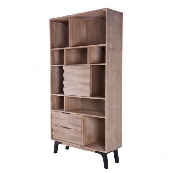Libreria Amsterdam 100x195cm madera maciza acacia