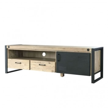 Mueble TV Boston 165cm madera maciza acacia