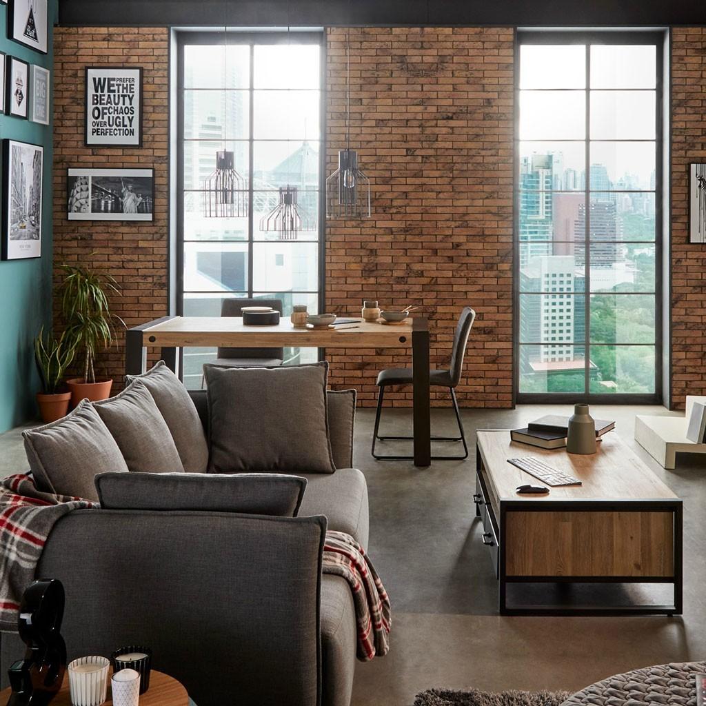 Mesa de comedor 160x90cm Boston madera maciza - Erizho