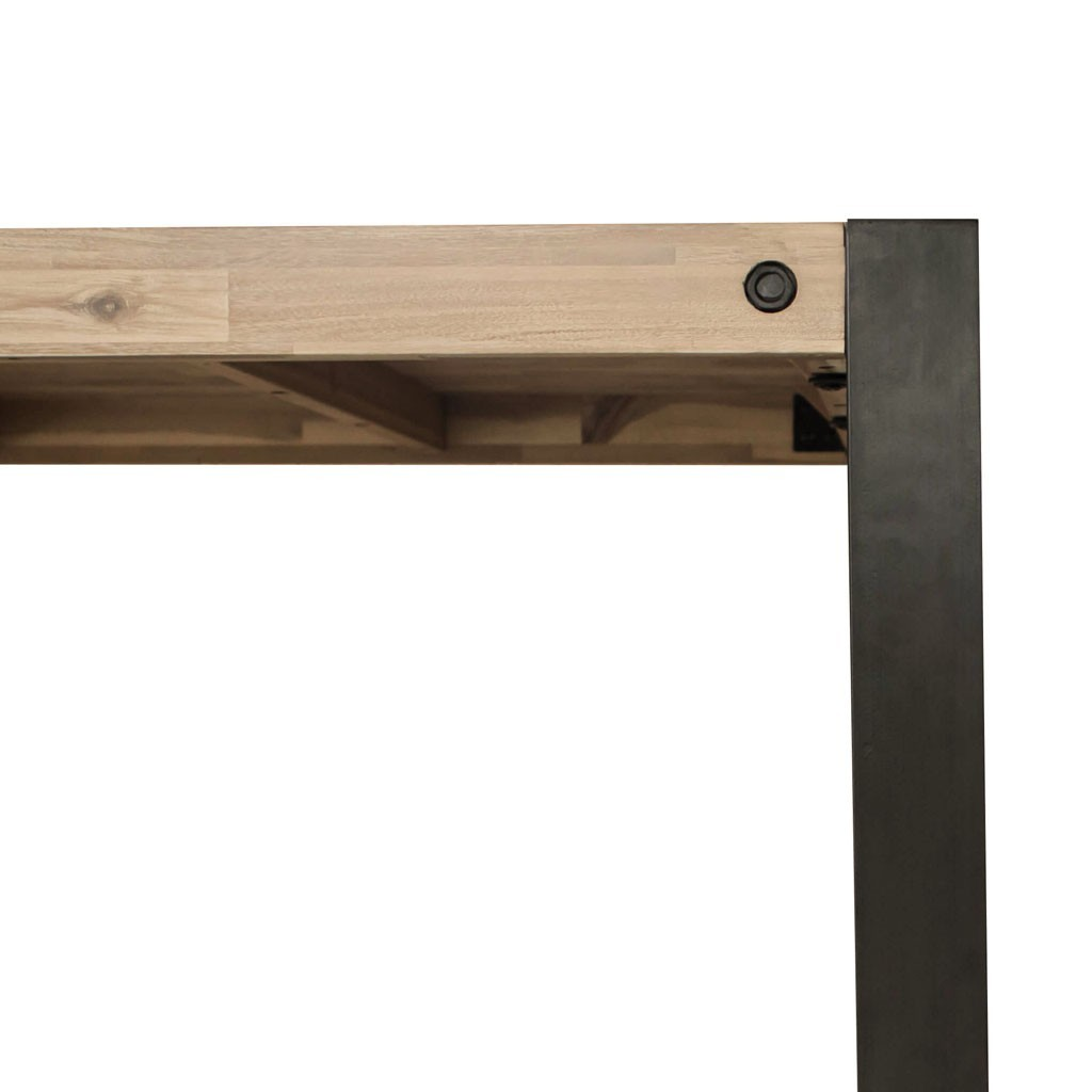 Mesa de comedor 160x90cm boston madera maciza erizho for Mesas de comedor de madera maciza