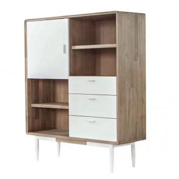 Librería Florence 120x140cm madera maciza acacia