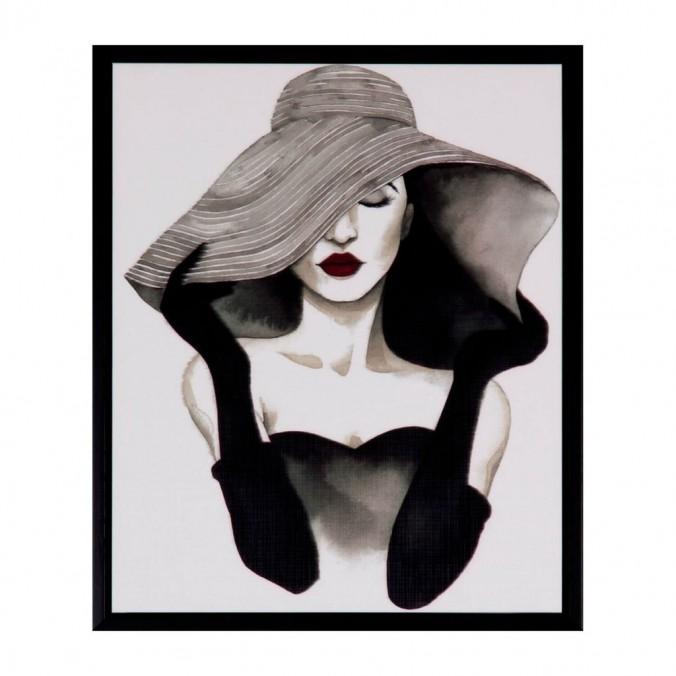 Cuadro WOMAN negro 25x30cm
