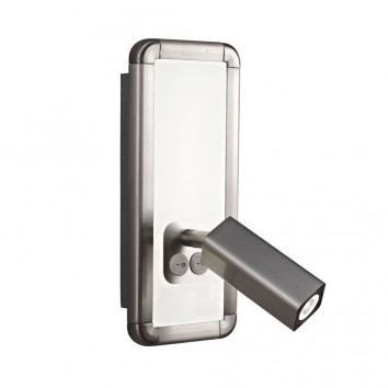 Aplique de pared LED doble luz IBIZA NICKEL