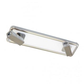 Regleta 2 focos LED + luz ambiente IBIZA NICKEL