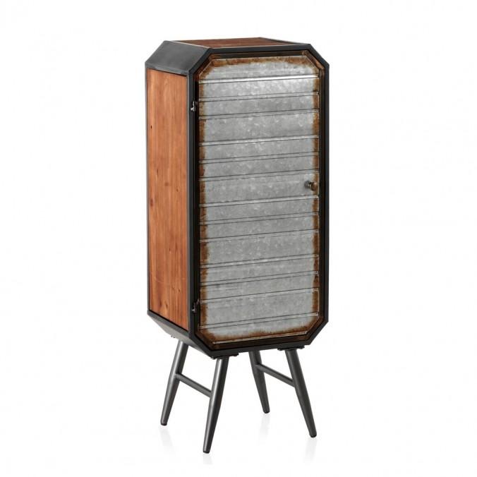 Armarito estilo industrial 40x30x106h hierro y madera de pino