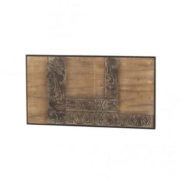 Cabezal tallado en chapa de abeto 110x60cm