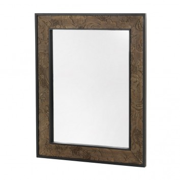 Espejo 80x100cm con marco de madera tallada