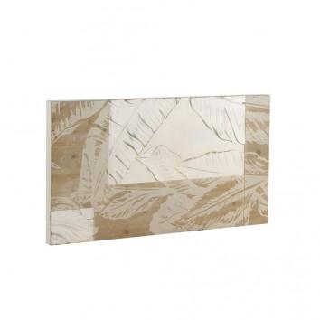Cabezal relieve hojas en chapa de abeto 110x60cm