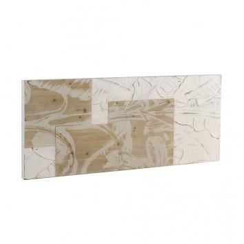 Cabezal relieve hojas en chapa de abeto 145x60cm
