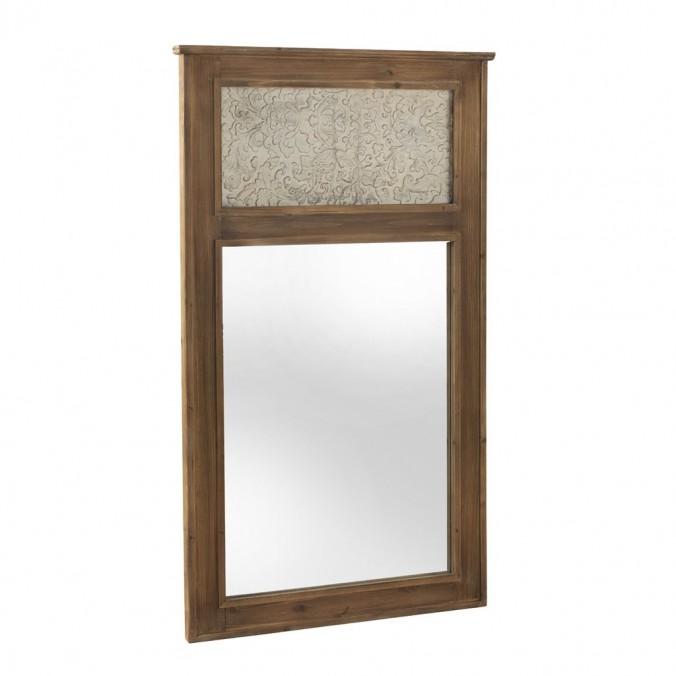 Espejo 90x150cm de abeto con frente en relieve