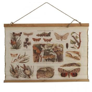 Cuadro banderola vintage mariposas 85x65cm