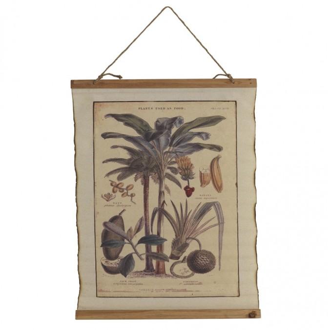 Cuadro banderola vintage palmeras 65x85cm