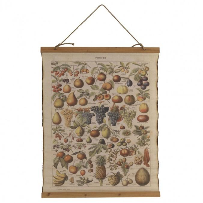 Cuadro banderola vintage frutas 65x85cm