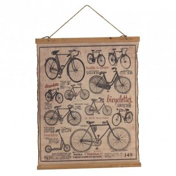 Cuadro banderola vintage bicicletas 65x85cm