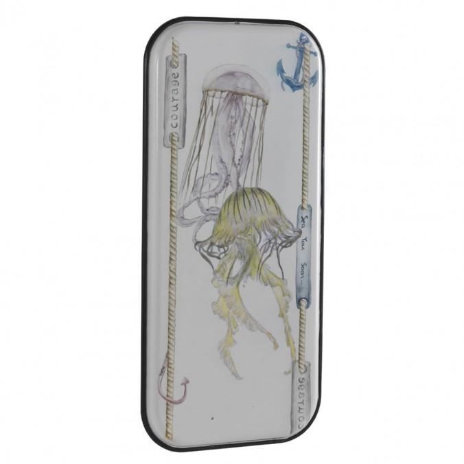 Set 2 cuadros vintage medusa-2- 39x83cm metal esmaltado