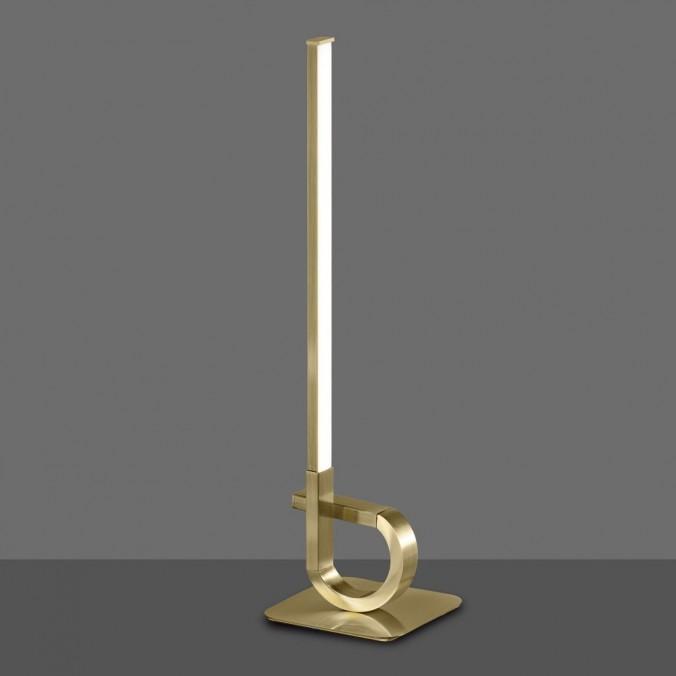 Lámpara de mesa LED 54cm CINTO Cuero