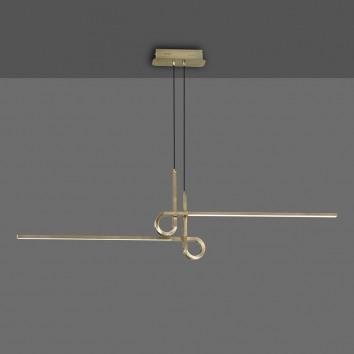 Lámpara techo suspensión LED 24W CINTO Cuero