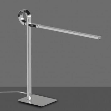 Lámpara de mesa lectura LED CINTO cromo